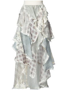 платье с рюшами и цветочным узором Zimmermann