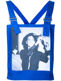 Robert Mapplethorpe photo print dungaree top Raf Simons