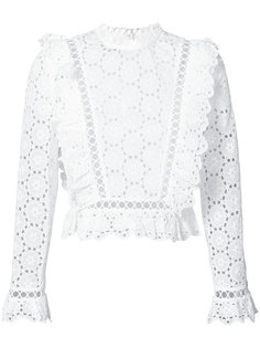 open embroidered blouse Zimmermann