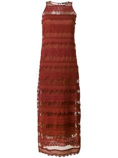 кружевное длинное платье  Twin-Set