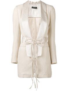 удлиненный пиджак с поясом Twin-Set