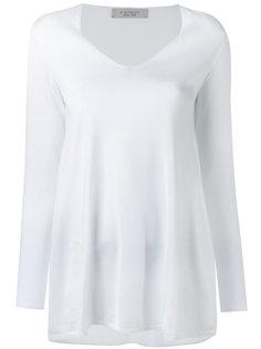 футболка с длинными рукавами и V-образным вырезом  D.Exterior