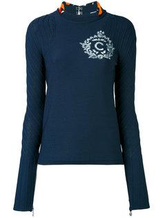 блузка с вырезом на спине Carven
