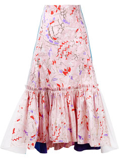 юбка с абстрактным узором и складками Peter Pilotto