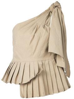 асимметричная блузка со складками Sea