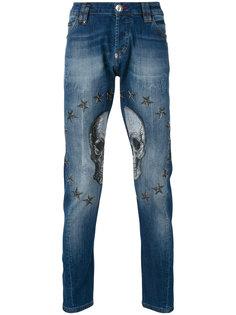 джинсы с черепом и звездами Philipp Plein