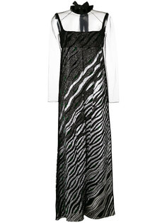макси платье с отблеском Fendi