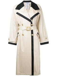 винтажный тренч с длинными рукавами Chanel Vintage