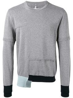 свитер с контрастными манжетами Oamc