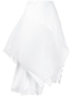 асимметричная сетчатая юбка  Maurizio Pecoraro