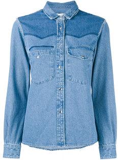 джинсовая рубашка с потертой отделкой Golden Goose Deluxe Brand