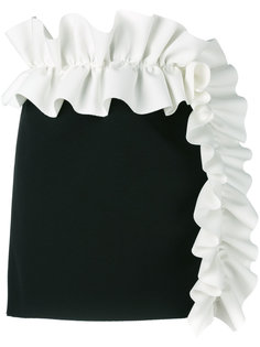 мини юбка с пышной оторочкой MSGM