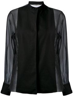блузка с прозрачными рукавами Lanvin