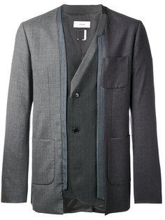 пиджак с контрастными вставками Facetasm