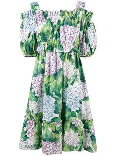платье с гортензиями Dolce & Gabbana