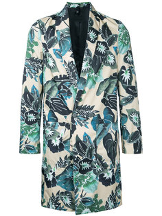 tropical print overcoat Christian Pellizzari
