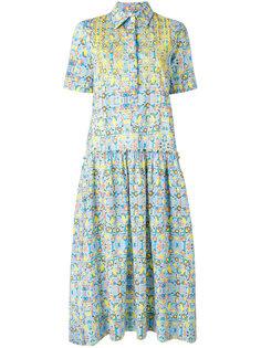 свободное платье с присборенной деталью Miahatami