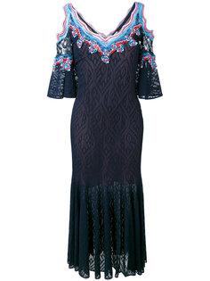 платье с кружевными вставками Peter Pilotto