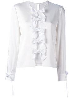 блузка с бантами спереди Fendi