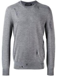 свитер с круглым вырезом свободного кроя Alexander McQueen