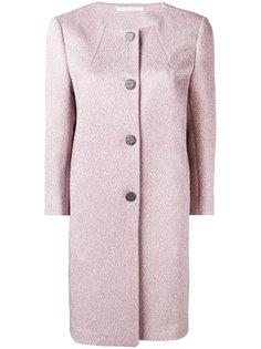 однобортное пальто без воротника Tagliatore