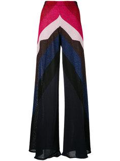широкие брюки с эффектом металлик Circus Hotel
