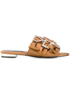 сандалии с украшением из кристаллов  Suecomma Bonnie