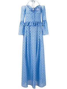 длинное платье с орнаментом Daizy Shely