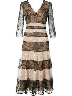 полосатое кружевное платье Carolina Herrera