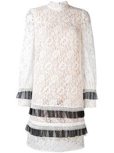 короткое кружевное платье Erdem
