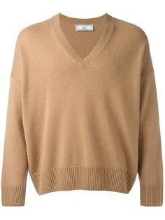 объемный свитер с Vобразной горловиной Ami Alexandre Mattiussi