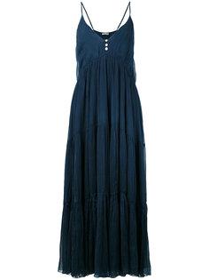 длинное платье с V-образным вырезом Mes Demoiselles