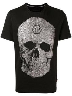 футболка с фактурным черепом Philipp Plein