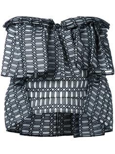 hexagonal pattern top Maticevski