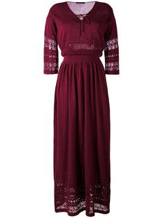 длинное платье с деталью макраме Roberto Collina