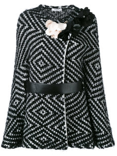 трикотажный пиджак с поясом  Lanvin