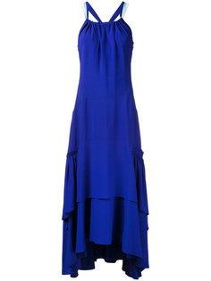 длинное платье с рюшами Peter Pilotto