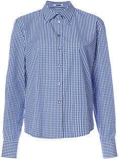 клетчатая рубашка с разрезами на рукавах Jourden