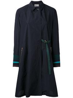 пальто с манжетами в рубчик Kolor