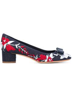 туфли с цветочной вышивкой Salvatore Ferragamo