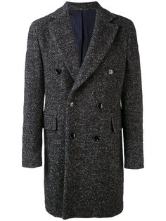 herringbone double-breasted coat Mp  Massimo Piombo