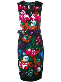 floral print belted dress Samantha Sung