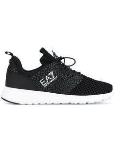 кроссовки с принтом-логотипом Emporio Armani