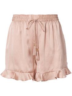 шорты с оборками  Zimmermann