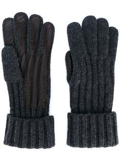 перчатки с кожаными деталями Brioni