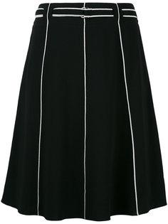юбка А-силуэта с контрастной окантовкой Emporio Armani