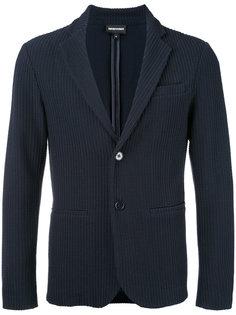 фактурный пиджак Emporio Armani
