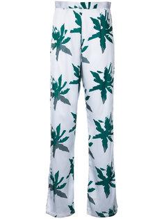 брюки с принтом пальм Sapia Simone