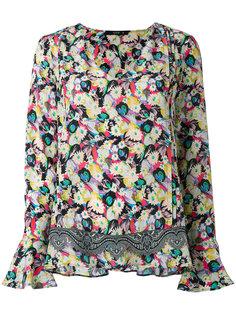 блузка с V-образным вырезом Etro