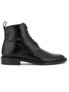 фактурные армейские ботинки Robert Clergerie